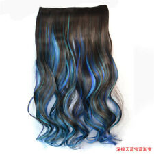 Fashion Women 2 Color Ombre Clip In On Hair Extensions Wavy Curly Hairpiece 120G