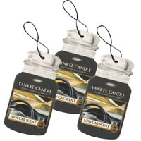 Yankee Candle Classic Paper Car Jar Hanging Air Freshener, New Car Scent 3-Pack