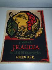 1968 PUERTO RICO Serigraph Art Poster Grabados de J.R. ALICEA 19 x 25.5 MUSEO PR