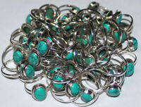 925 Solid Sterling Silver 50Pc Lot Handmade Ring Natural Turquoise Stone US Size
