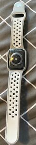 Used Apple Watch Series 4, GPS + Cellular, 38mm, Silver Aluminum Case, Grey Spec