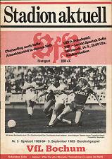 BL 83/84 VfB Stuttgart - VfL Bochum, 03.09.1983