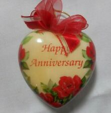 Happy Anniversary Plastic Puffy Heart ornament