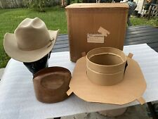 Vintage 50s Stetson No.1 Quality Taupe 7+ Rancher Cowboy With Box