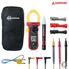 AMPROBE AMP-330 1000A AC/DC TRUE-RMS HVAC Clamp Multimeter with Case & Voltstick