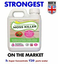 MOSS KILLER ideal for Tarmac, Patios, Decking | 5L Super Concentrate Made in UK