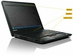 "Lenovo ThinkPad X130e  laptop 11.6"" Celeron 857 4GBRAM 128gb SSD Win10 Black"