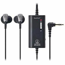 OFFICIAL Audio-technica headphone QuietPoint ATH-ANC23 BK /AIRMAIL with Tracking