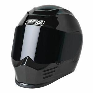 Simpson SPBM2 Speed Bandit Full Face Racing Helmet - Size Medium - Black