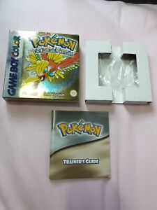 Pokemon Gold box & manual ONLY (no cart) Game Boy Color Gameboy Original owner.