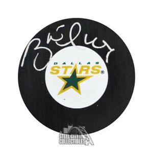 Brett Hull Autographed Dallas Stars Hockey Puck - PSA/DNA COA