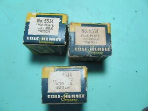 NOS Cole-Hersee No. 5514 Face Plate w/ Toggle Switch