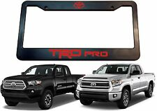 TRD PRO License Plate Frame With Red Vinyl Lettering New Free Shipping USA