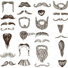 ALL Stylish Fake Moustache Beard Self Adhesive Facial Hair Fancy Dress Costume
