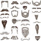 ALL Stylish Fake Moustache Beard Self Adhesive Facial Hair Fancy Dress Costume