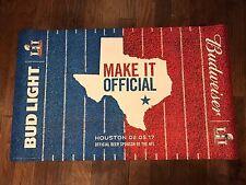 Bud Light Beer Super Bowl LI 51 Carpet, Rug, Mat - Budweiser - Houston Texas NEW