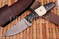 7 INCH UD CUSTOM DAMASCUS STEEL HUNTER SKINNER KNIFE HORN&BONE HANDLE B6-3023