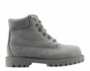 New Timberland Toddler 6-Inch Premium Waterproof Boots (A16ZB)  Grey Mono Nubuck