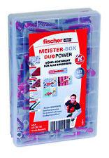 fischer Meister-Box, Dübel-Sortiment Duo Power 132 Teile für alle Baustoffe
