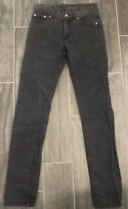 Authentic Men CHEAP MONDAY High Slim Dark Grey Jeans 0200736 Sz29 Brand New