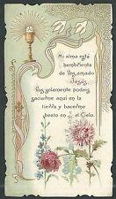 Estampa antigua de la Primera Comunion andachtsbild santino holy card santini