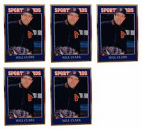 (5) 1992 Sports Cards #65 Will Clark Baseball Card Lot San Francisco Giants