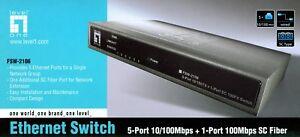 LevelOne FSW-2106 prof - 5-Port RJ45 10/100 autosensing + 1 SC Fast Fiber-Port