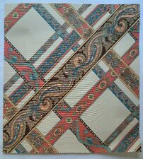 "Fabric Sample Brunschwig Fils Campin 16"" X 17.5"" Geometric Paisley Cream"