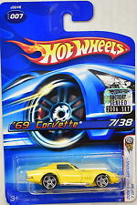 Hot Wheels 2006-007 First Editions 7//38 69 Corvette RED 1:64 Scale 1969