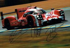 Mark WEBBER HARTLEY BERNHARD Signed Autograph PORSCHE WEC Photo B AFTAL COA