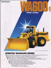 """Komatsu """"WA600-1"""" Wheel Loader Shovel Brochure Leaflet"""
