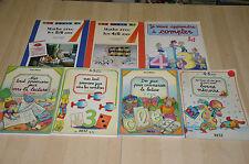 lot 7 cahiers d'activité : Maths, nombres, compter, lecture, écriture - 4/6 ans
