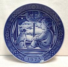 Vintage 1973 GEORGE JENSEN Blue & White Plate ~  DENMARK