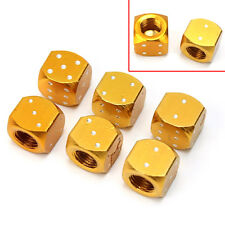 6× Aluminum Metal Dice Bike Car Motorcycle Tyre Tire Wheel Valve Dust Caps MW