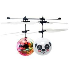 Electric Flying RC Ball Aircraft LED Flashing Light Helicopter Induction Toy