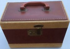 VINTAGE SINGER SEWING MACHINE  CASE ONLY - BROWN & GOLD - VGUC