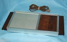 MCM Vintage Electric Buffet Service Food Warmer Tray - Teak Handles - Made in US