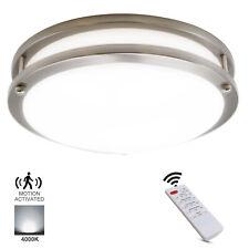 MingBright 10''/12'' Remote/Motion Sensor LED Flush Mount Ceiling Light Fixture
