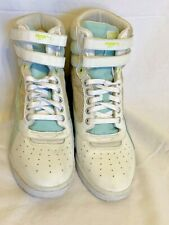 Puma Contact Sky ~Leather Hidden Wedge Hightop Sneaker Shoes White/Blue ~Sz.9.5