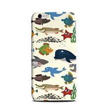 Blue Sea Animals Shark Whale Ocean Phone Case for iPhone 5C 5S 6 6+ Plus s4 s5