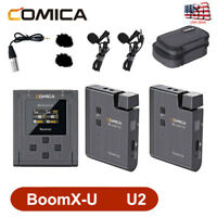 NEW COMICA BoomX-U U2 Broadcast UHF Wireless Microphone system transmit receiver