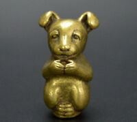 Collection archaize brass dog small statue h605