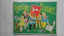 ALBUM D'IMAGE CHOCOLAT POULAIN CHANSONS DE FRANCE VIDE 5EME SERIE