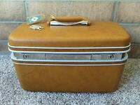 Vintage Samsonite Silhouette Travel Train Case Makeup Cosmetic Luggage KEY