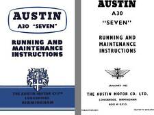 New listing Austin 1953 - Austin A30 Seven - Running and Maintenance Instructions