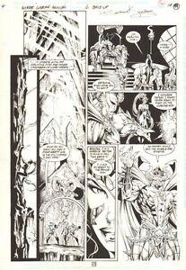 Wonder Woman Ann #6 p.49 Lord Hades Speaks with Artemis - 1997 art by Ed Benes