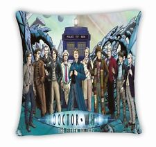 Doctor Who Tardis Police Box 11 Doctors Throw Pillow Cushion Case Cover