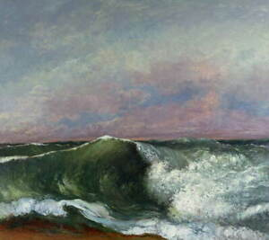 Gustave Courbet The Wave Poster Reproduction Paintings Giclee Canvas Print