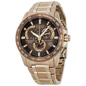 Citizen Eco-Drive Perpetual Calendar Chronograph A-c Synchronization Men's Watch