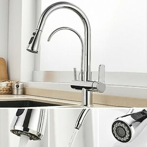 Modern Water Filter Kitchen Mixer Tap Pull Out Swivel Kitchen Tap in Chrome